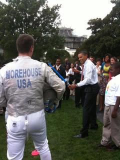 Tim Morehouse with President Obama