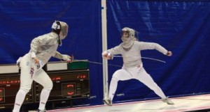Socha (right) faces off against Sada Jacobson in 2008