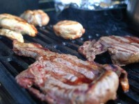 Grilled steak + chicken: Yum!