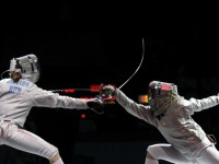 Top fencing athletes use the brainpower on and off the fencing piste.  Photo S.Timacheff/FencingPhotos.com