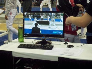 Fencing Video replay system in use at US Fencing events