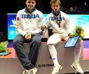 Baldini and Cassara topped the medal stand.  Photo: http://www.federscherma.it/