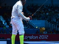 Daryl Homer in action at the 2012 Olympic Games.  Photo Fencing.Net