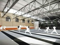 This is what the new practice room for the UPenn fencing team could look like once the gym reopens in the fall of 2013.