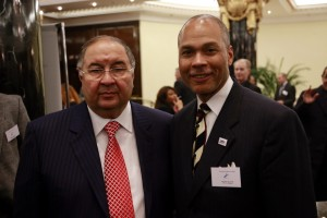 Alisher Usmanov with Donald Anthony, Jr. at the FIE Congress in Moscow.  Photo: S.Timacheff