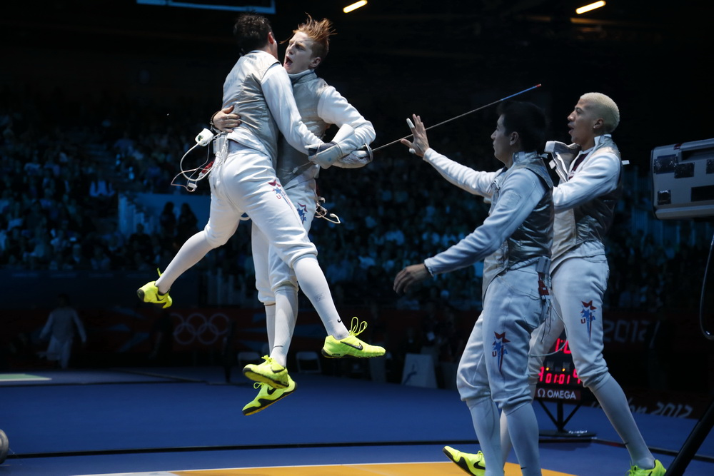 Team USA knocked off France in 2012. The same team could do a lot of damage on the international scene over the next few seasons. (Photo: S.Timacheff/FencingPhotos)