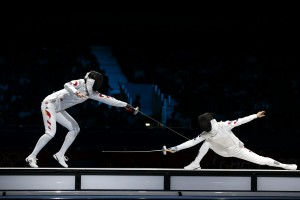 China continued winning in the team event and placed 3 fencers in the individual top-8.