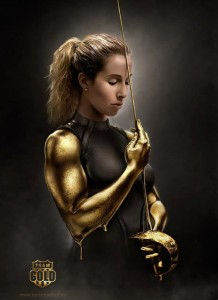 Mariel Zagunis won gold at the 2013 Challenge Yves Brasseur. (This cool image is by artist MichaelO - see his work on DeviantArt)