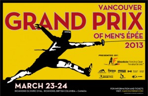 2013 Vancouver Men's Epee Grand Prix Poster