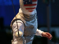 Lee Kiefer placed on the podium for Team USA. Photo: S.Timacheff/FencingPhotos.com