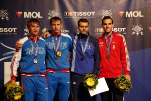 Medalists from the 2013 Men's Sabre Finals. Photo: FencingPhotos.com