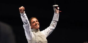 After a silver medal at the 2012 Olympics, Errigo wins her first world championships gold. Photo: FencingPhotos.com