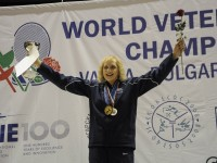 Elizabeth Kocab (USA) took the gold at the Veterans Fencing World Championships