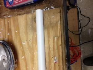 A length of PVC tubing.