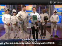 Tim Morehouse, Dagmara Wozniak, and fencers take to the airwaves to defend and promote fencing