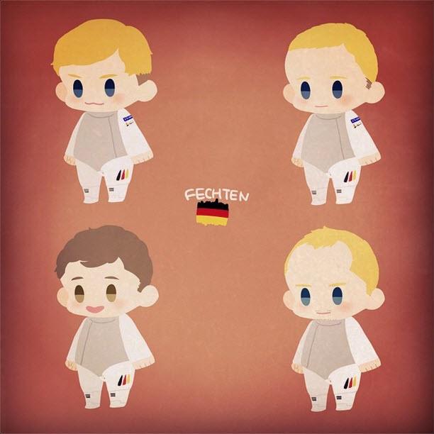 German Men's Foil Team by oh_maju