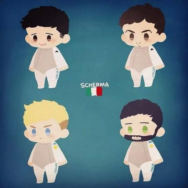Italy's Men's Foil Team by oh_maju