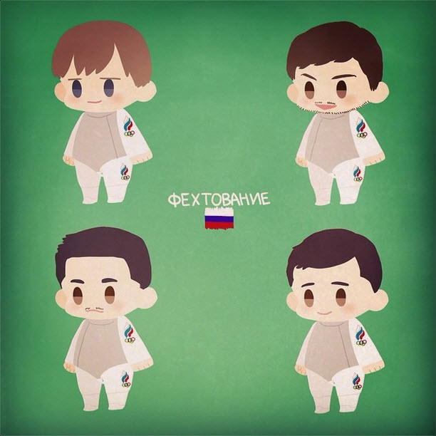 Russia's Men's Foil Team by oh_maju