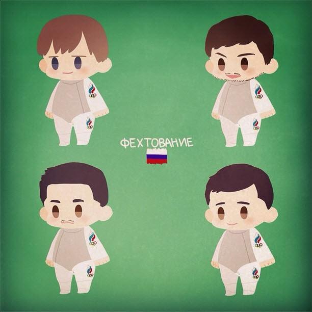 Russia's Men's Foil Team by oh_maju