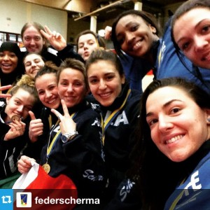 #Selfie from the Team Event Podium at the 2015 Challenge Yves Brasseur