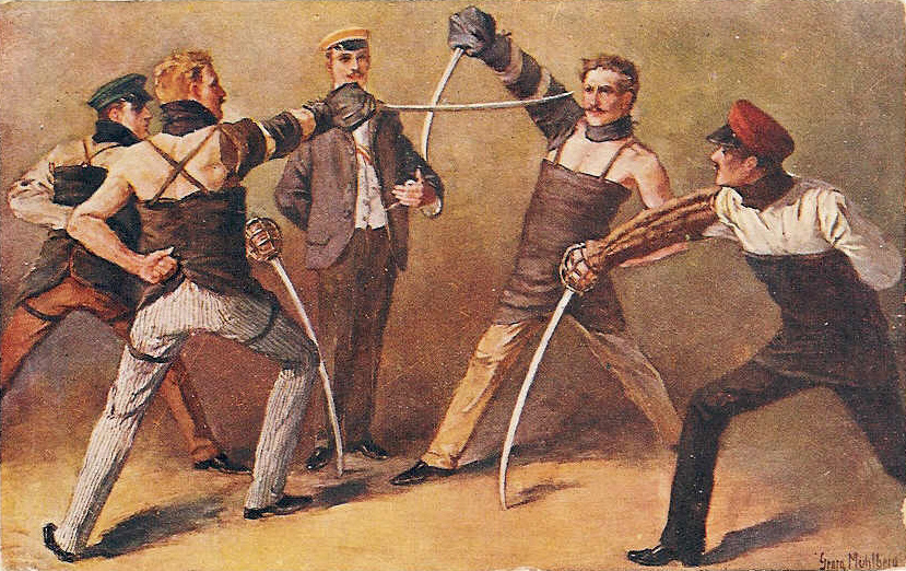 Fencing Lessons are an Important Building Block for the Fencer. Image Courtesy of Wikipedia.