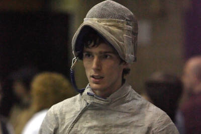 Jeff Spear fenced for the Columbia Lions