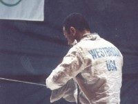 Peter Westbrook at the 1996 Olympics.  Courtesy BlackBlades.com