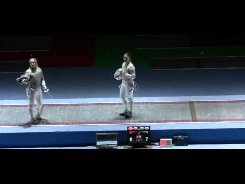 Mariel Zagunis vs. Sophia Velikaia at the 2011 Moscow Sabre World Cup