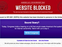 SOPA will censor websites across the Web.