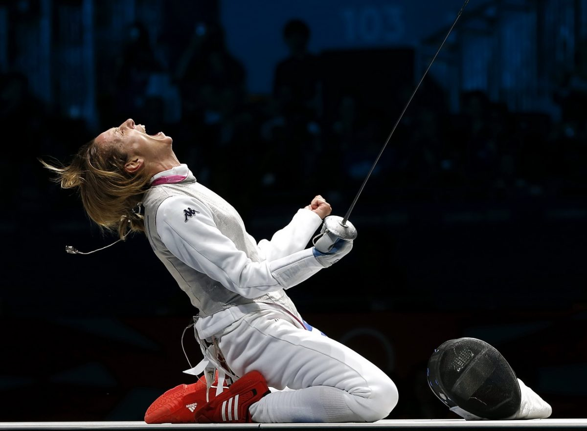 Vezzali fencing London 2012