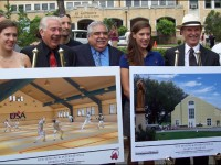 Breaking ground for the sports complex and fencing center at UIW