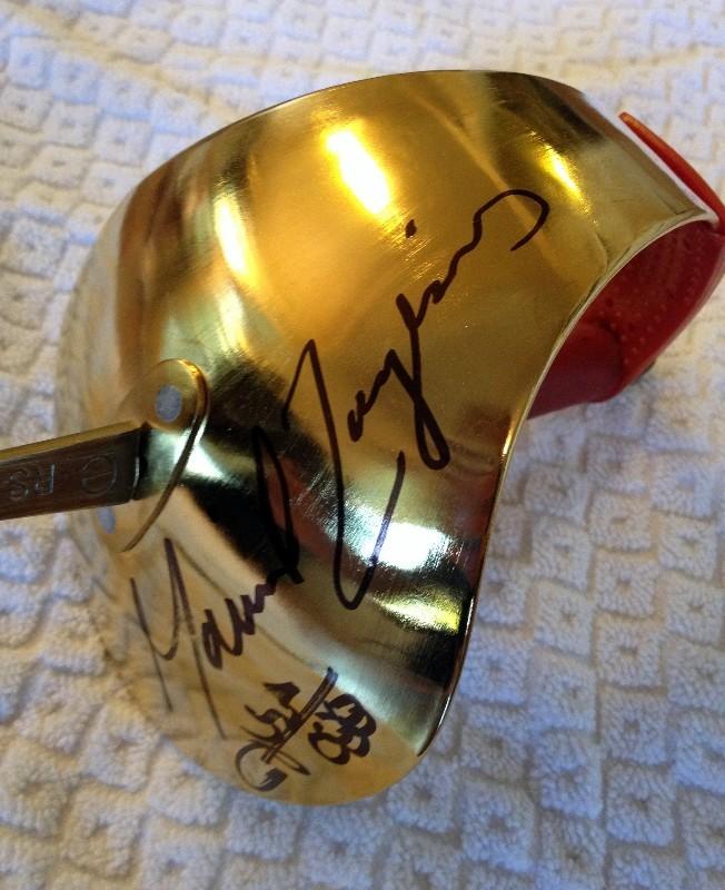 signed fencing sabre mariel zagunis