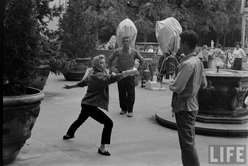 Grace Kelly training for Fencing Scenes