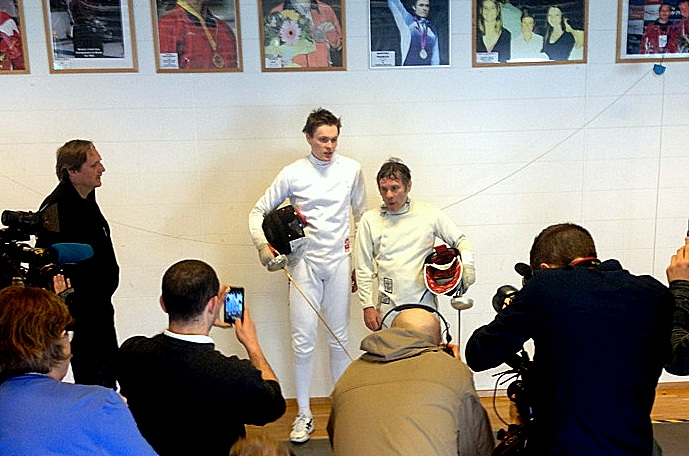 Bruce Dickinson fencing