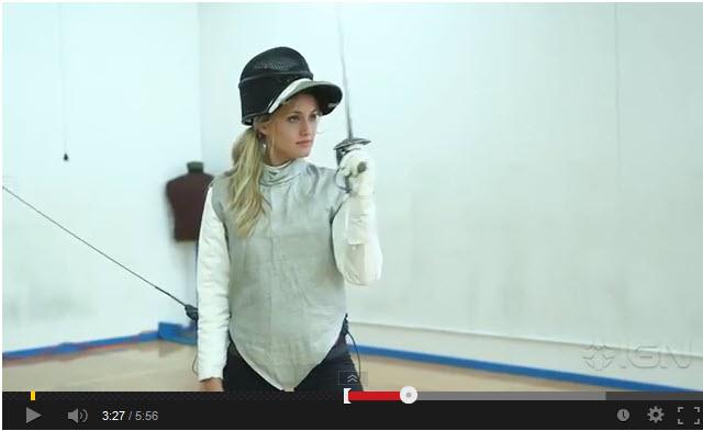 Naomi Kyle fencing
