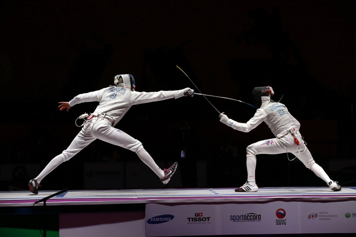foil fencing at world combat games