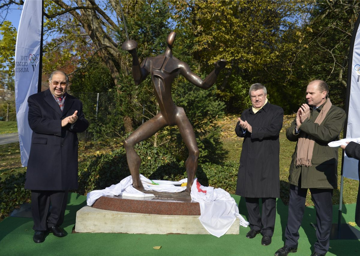 Unveiling of the FIE statue