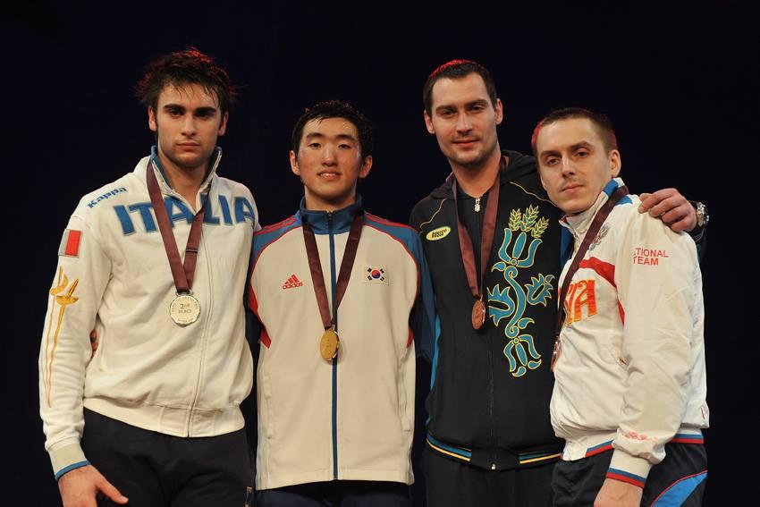 2014 Doha Grand Prix Men's Epee Medalists