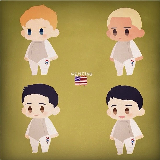 usa fencing mens foil fan art