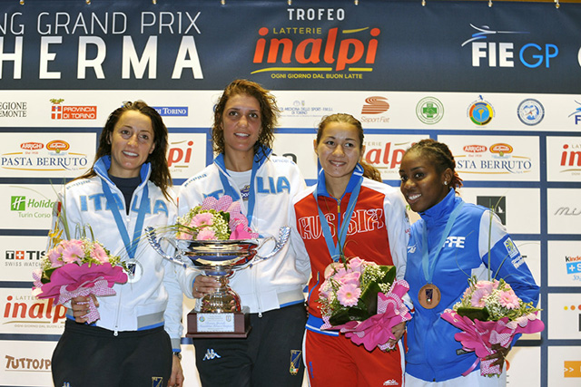 Medalists for 2014 Torino Womens Foil Grand Prix