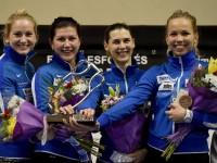 Estonia womens team epee gold Barcelona world cup