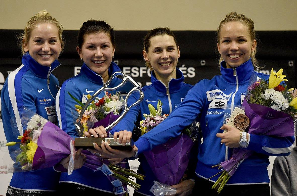 Estonia womens team epee gold Barcelona world cup