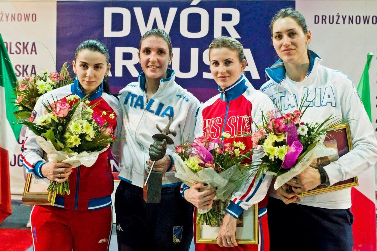 Medalists for 2016 Gdansk Womens Foil World Cup - Photo via FIE