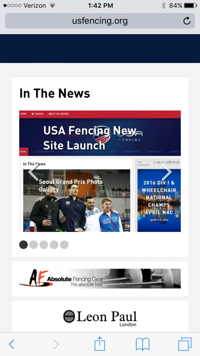 us fencing home page mobile view
