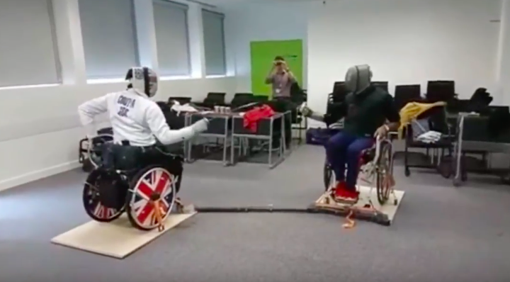Inexpensive Wheelchair Fencing Frame Developed By Uk