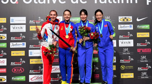 Women's Epee Individual Medalists - c/o FIE.org/Augusto Bizzi